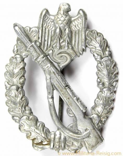 Infanterie Sturmabzeichen (Hohlprägung) in Silber, Herst. Sohni, Heubach & Co., Oberstein, selten!