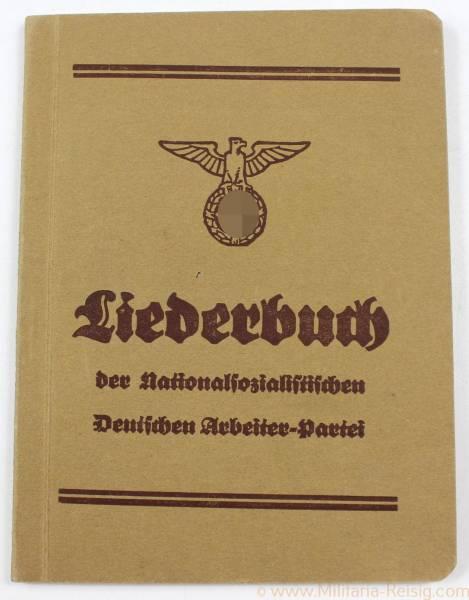 """Liederbuch v. 1933 """"Der Nationalsozialistischen Arbeiterpartei"""" 22. Auflage"""