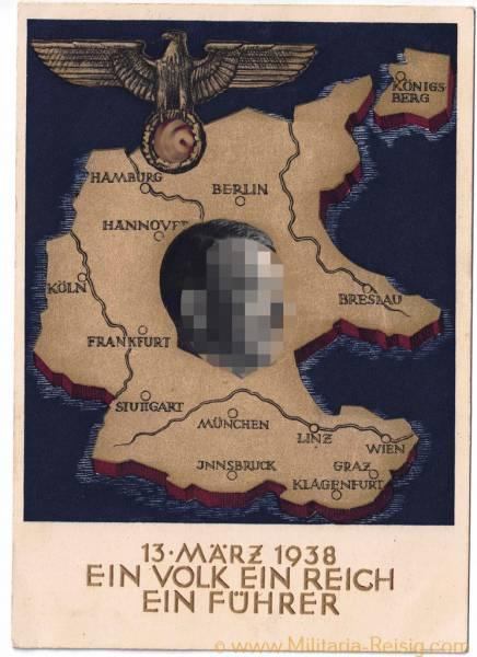 """Postkarte """"Ein Volk, Ein Reich, Ein Führer 1938"""""""