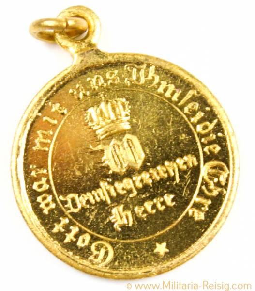 Miniatur - Kriegsdenkmünze für Kämpfer Preußen 1870-71, 20 mm