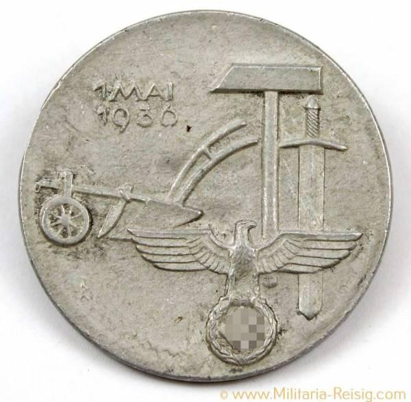 Tag der Arbeit 1. Mai 1936 Abzeichen, Karl Hensler Pforzheim