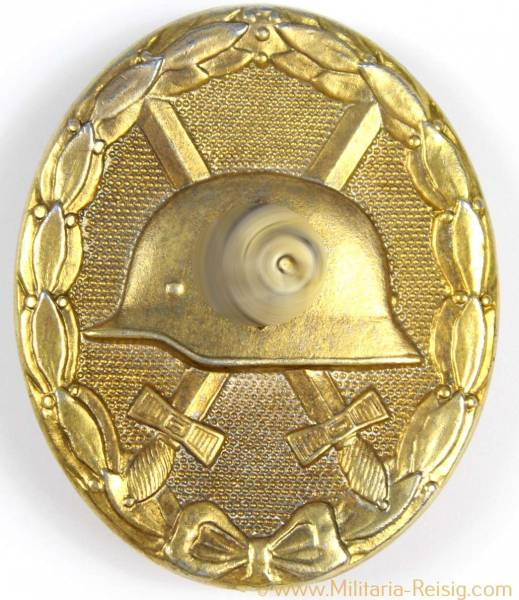 Verwundetenabzeichen in Gold 1939, Herst. 4 (Steinhauer & Lück, Lüdenscheid)