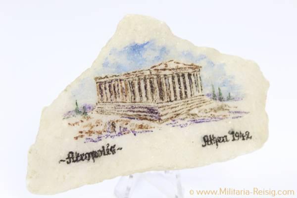 Souvenir Stein Akropolis Athen 1942