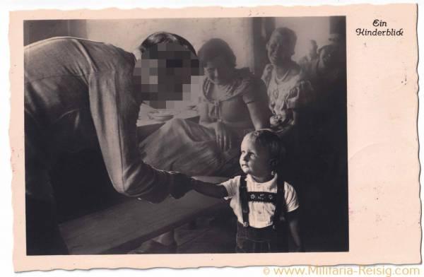 "Postkarte ""Ein Kinderblick"", Adolf Hitler"