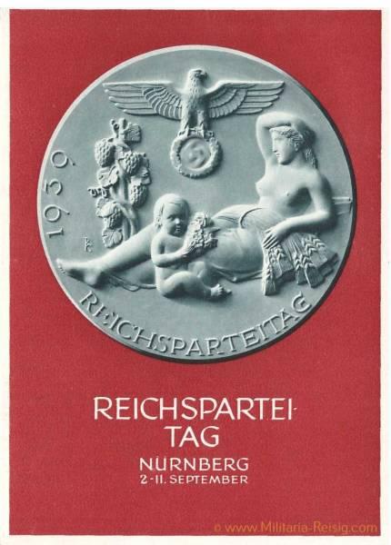Postkarte Reichsparteitag Nürnberg 1939, 3. Reich