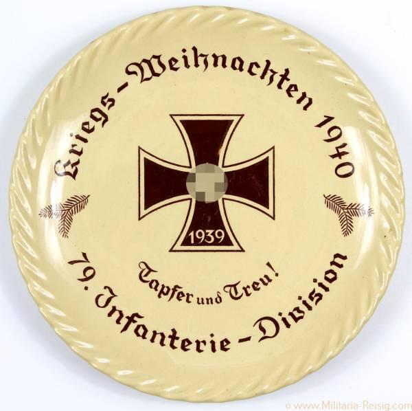 Wandteller Kriegs-Weihnachten 1940, 79. Infanterie Division, Tapfer und Treu!