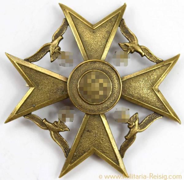 Spanienkreuz in Bronze, Herst. Otto Schickle, Pforzheim