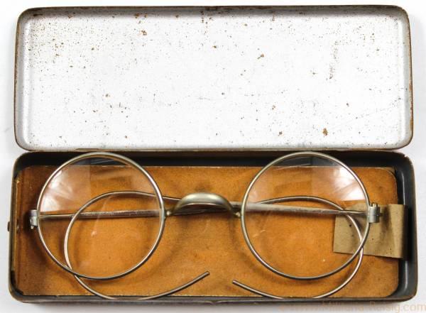Wehrmacht Dienstbrille mit Brillenbehälter