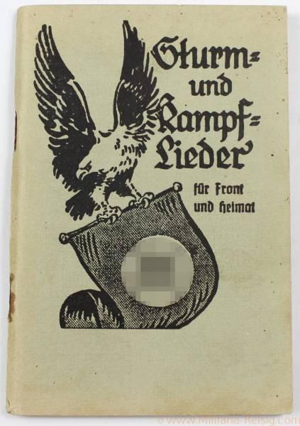 """SA Liederbuch """"Sturm und Kampflieder für Front und Heimat"""" 1941"""