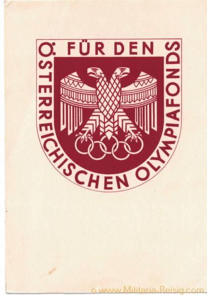 Postkarte, Für den Österreichischen Olympia-Fonds 1936