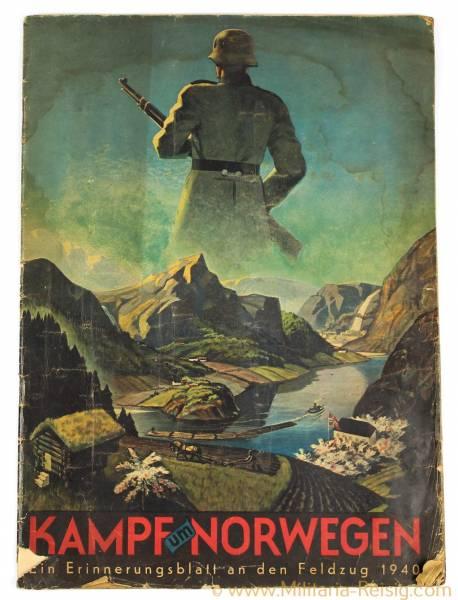 """Kampf um Norwegen, """"Ein Erinnerungsblatt an den Feldzug 1940"""""""