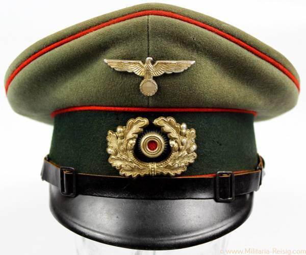 Schirmmütze für Mannschaften der Artillerie, Herst. Tiller A.-G.