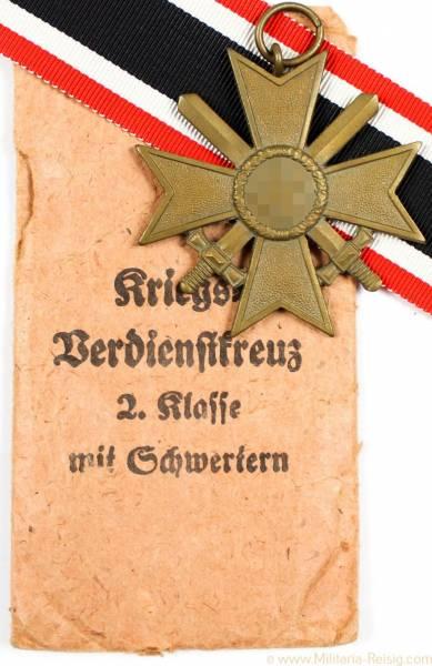 Kriegsverdienstkreuz mit Schwertern 2.Klasse 1939, Herst. Ph. Türks Wwe, Wien