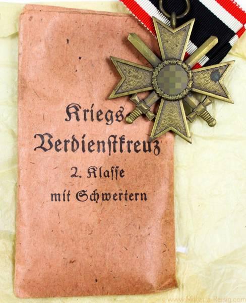 Kriegsverdienstkreuz mit Schwertern 2.Klasse 1939, Herst. 110 (Otto Zappe, Gablonz)