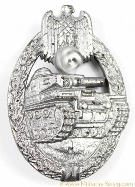 Panzerkampfabzeichen in Silber, Herst. R.R.S. (Rudolf Richter, Schlag)