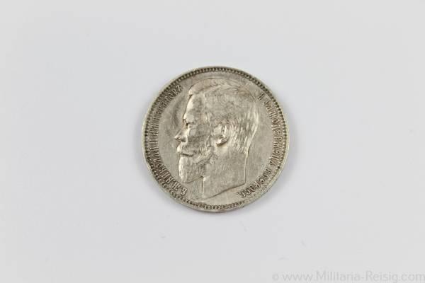 Russland - Silbermünze 1 Rubel 1901 - ss