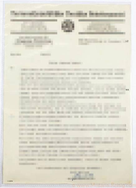 Schreiben NSDAP Köln