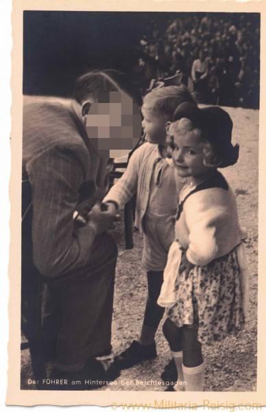 """Postkarte """"Der Führer am Hintersee bei Berchtesgaden"""""""