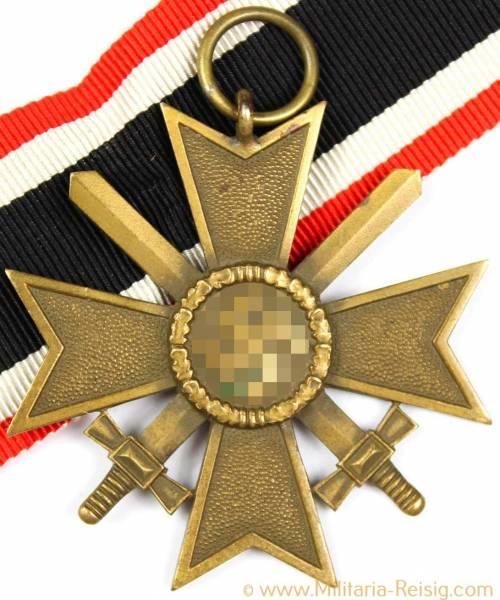 Kriegsverdienstkreuz mit Schwertern 2.Klasse 1939 mit Band, aus Buntmetall