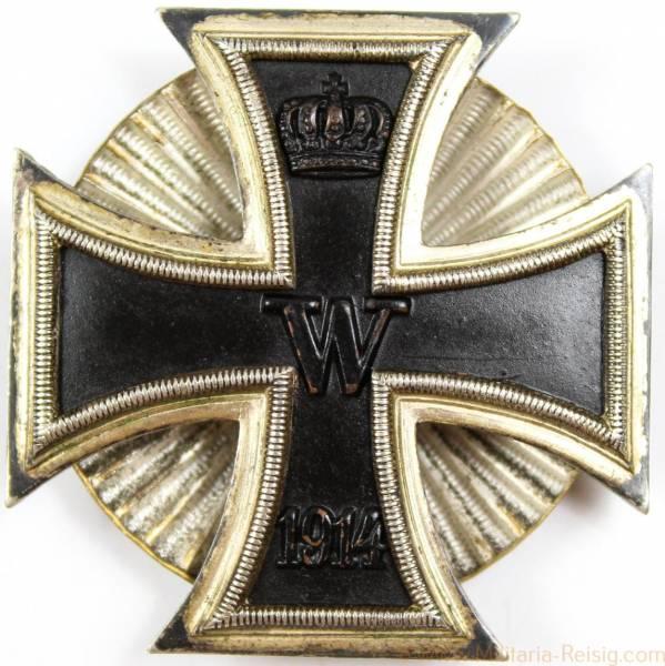 Eisernes Kreuz 1.Klasse 1914 an Schraubscheibe, Herst. Wilhelm Deumer, Lüdenscheid