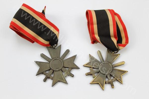 2x Kriegsverdienstkreuz mit Schwerter 2. Klasse