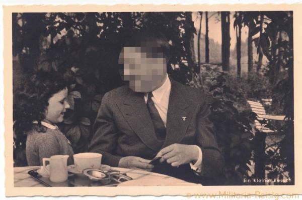 """Postkarte """"Ein kleiner Besuch"""", Adolf Hitler"""