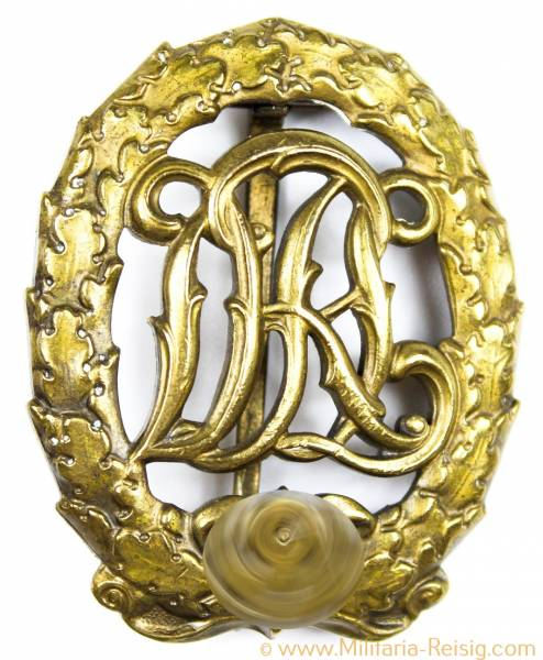 Reichssportabzeichen DRL in Bronze - Herst. Karl Hensler, Pforzheim