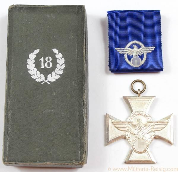 Dienstauszeichnung der Polizei 2.Stufe für 18 Jahre 1938 im Etui