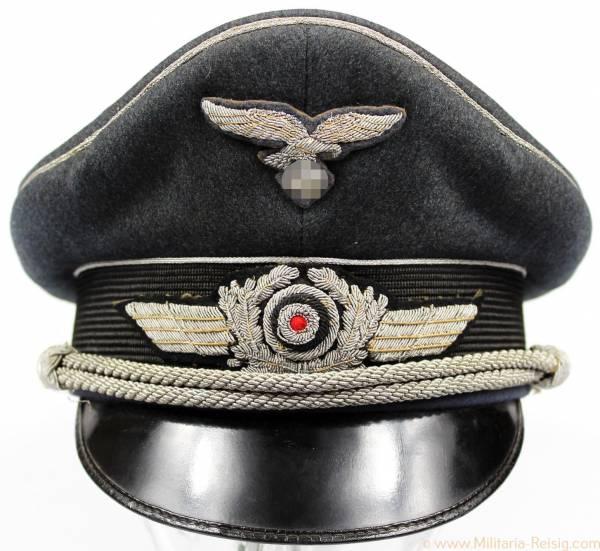 Luftwaffe Schirmmütze für Offiziere, Herst. EREL