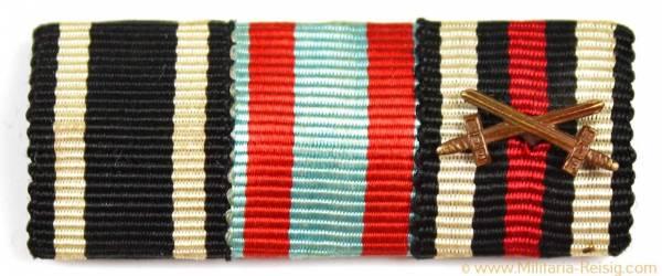 3er Feldspange - (Eisernes Kreuz 1914, Tapferkeitsmedaille u. Ehrenkreuz)