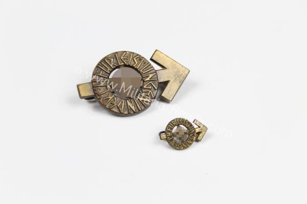 HJ-Leistungsabzeichen Bronze + Miniatur, Herst. Berg & Nolte Lüdenscheid