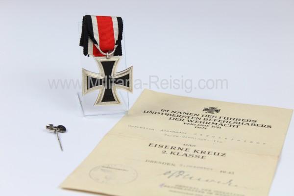 Eisernes Kreuz 2. Klasse 1939 mit Urkunde