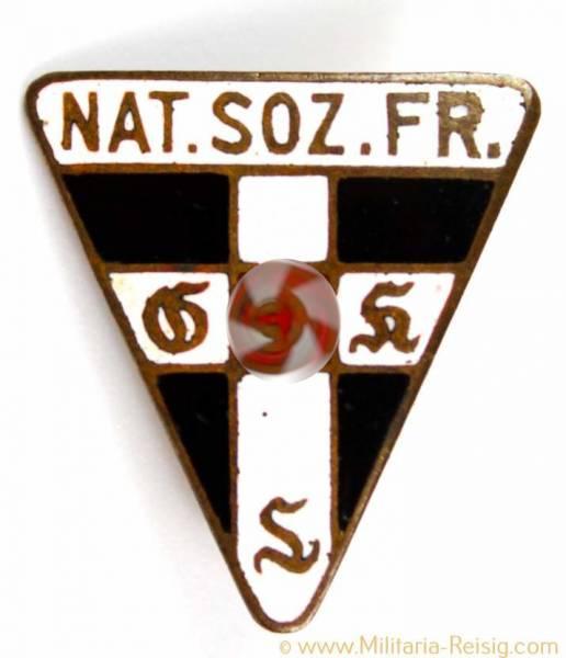 Mitgliedsabzeichen Nationalsozialistische Frauenschaft, Herst. RZM 46 - 18mm