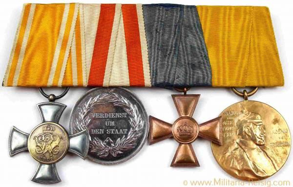 Ordensspange mit 4 Auszeichnungen, Kaiserreich