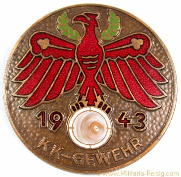 """Standschützenverband Tirol-Vorarlberg, Gauleistungsabzeichen 1943 """"KK-Gewehr"""""""