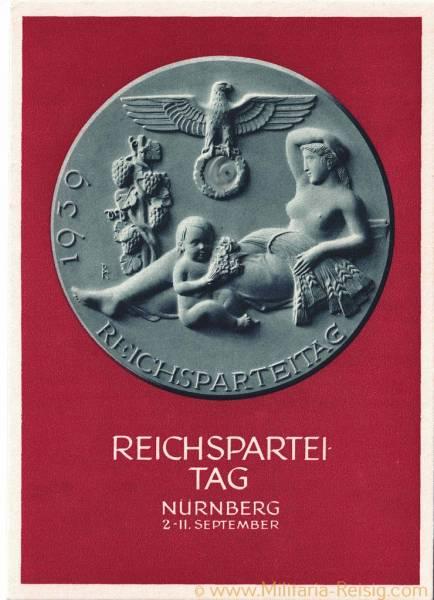 """Postkarte """"Reichsparteitag Nürnberg 1939"""""""