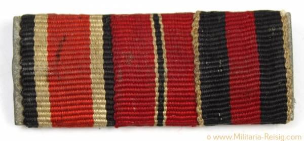 3er Feldspange (EK 1939, Ostmedaille u. Sudetenland-Medaille)