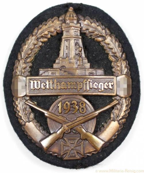 Ärmelschild Reichskriegerbund Kyffhäuser Wettkampfsieger 1938