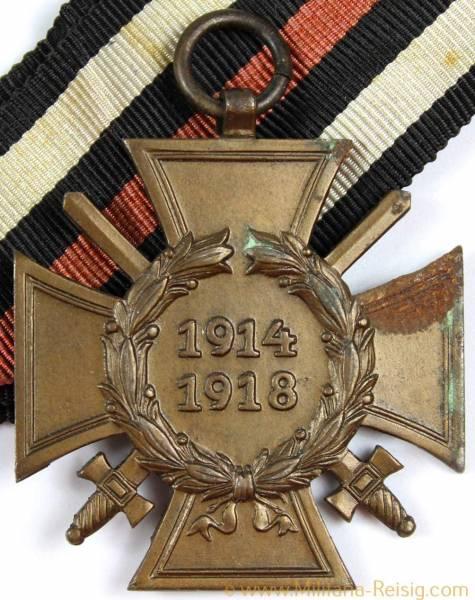 Ehrenkreuz des 1.Weltkrieges Frontkämpferkreuz, Herst. Reichsverband Pforzheim