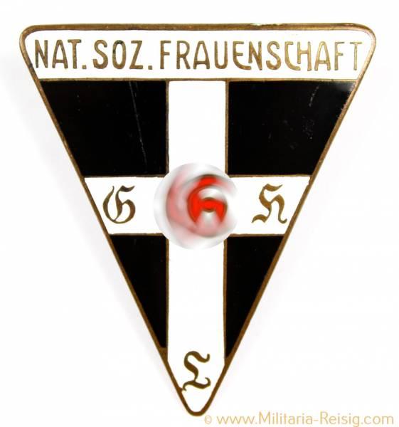 Große Ansteckbrosche Nat. Soz. Frauenschaft, 3. Reich, Herst. RZM 46