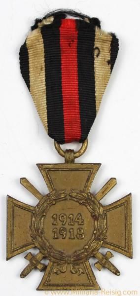 Ehrenkreuz des 1.Weltkrieges Frontkämpferkreuz am Band