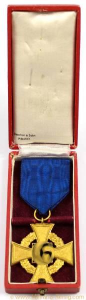 Treuedienst-Ehrenzeichen 1.Stufe für 40 Jahre 1938, Herst. Deschler & Sohn München