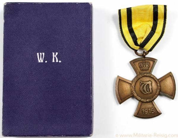 Wilhelmskreuz ohne Schwerter für Kriegsverdienst im Etui