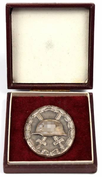 Verwundetenabzeichen 1939 in Silber im Etui