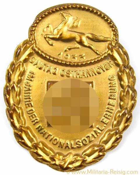 NSDAP Gau-Traditonsabzeichen Osthannover in Gold 1933