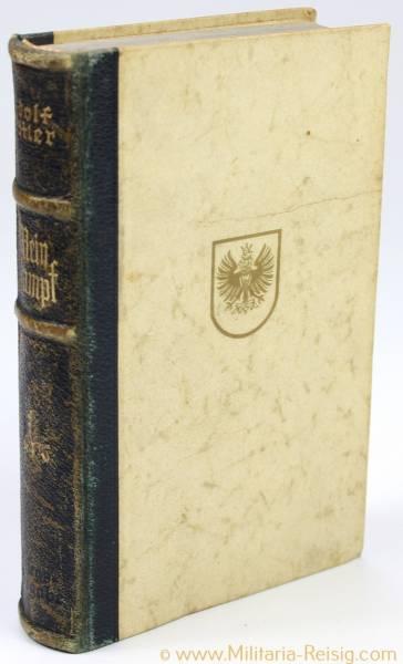 Mein Kampf Hochzeitsausgabe 1942 mit Stadtwappen in Lateinschrift