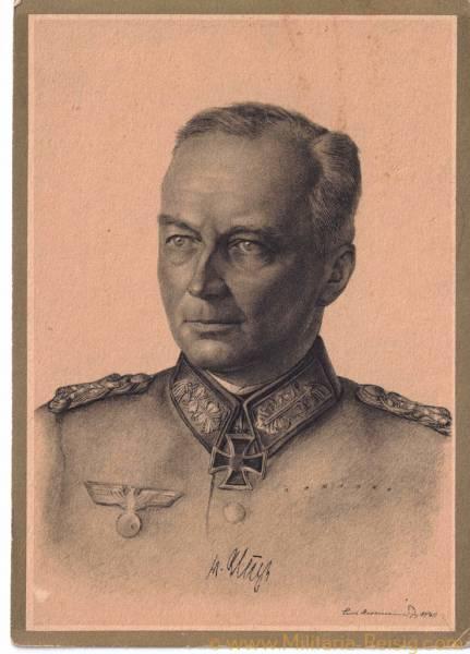 """Postkarte, Ritterkreuzträger """"Generalfeldmarschall Günther von Kluge"""""""