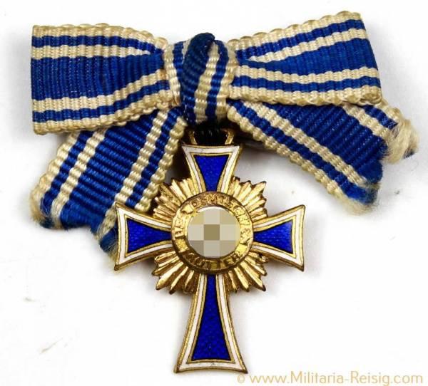 Miniatur Ehrenkreuz der Deutschen Mutter 1.Stufe Gold, Herst. L/14