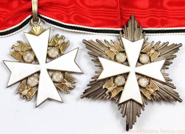Deutscher Adlerorden - Verdienstkreuz 2. Klasse und Bruststern, Herst. 21