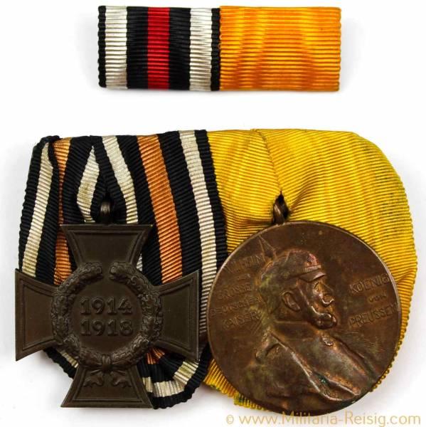 Ordensspange mit 2 Auszeichnungen, 1. Weltkrieg